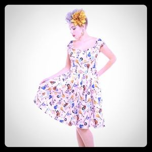 Lindy bop guitar print dress
